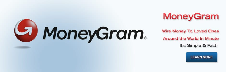 Moneygram.  Wire Money To Loved Ones Around The World In a Minute.  It Is Simple And Fast.  Learn Moire.